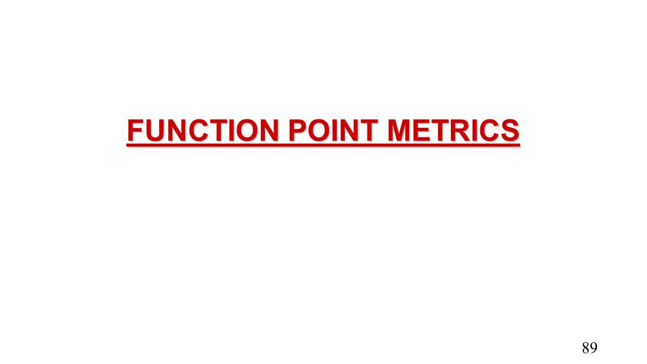 FUNCTION POINT METRICS
