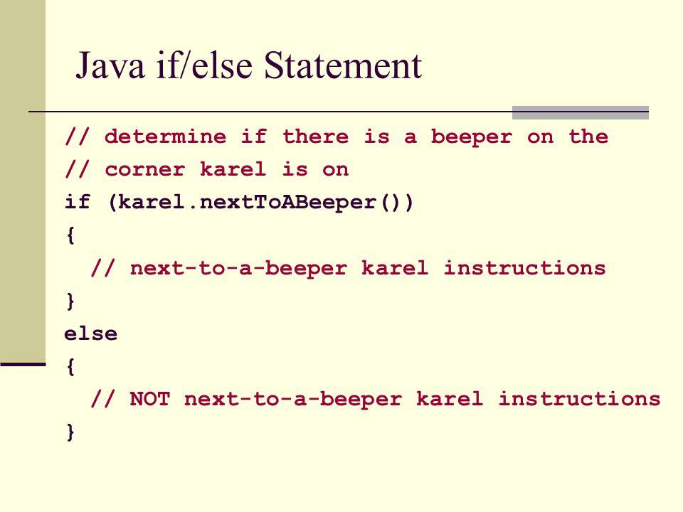Java if/else Statement