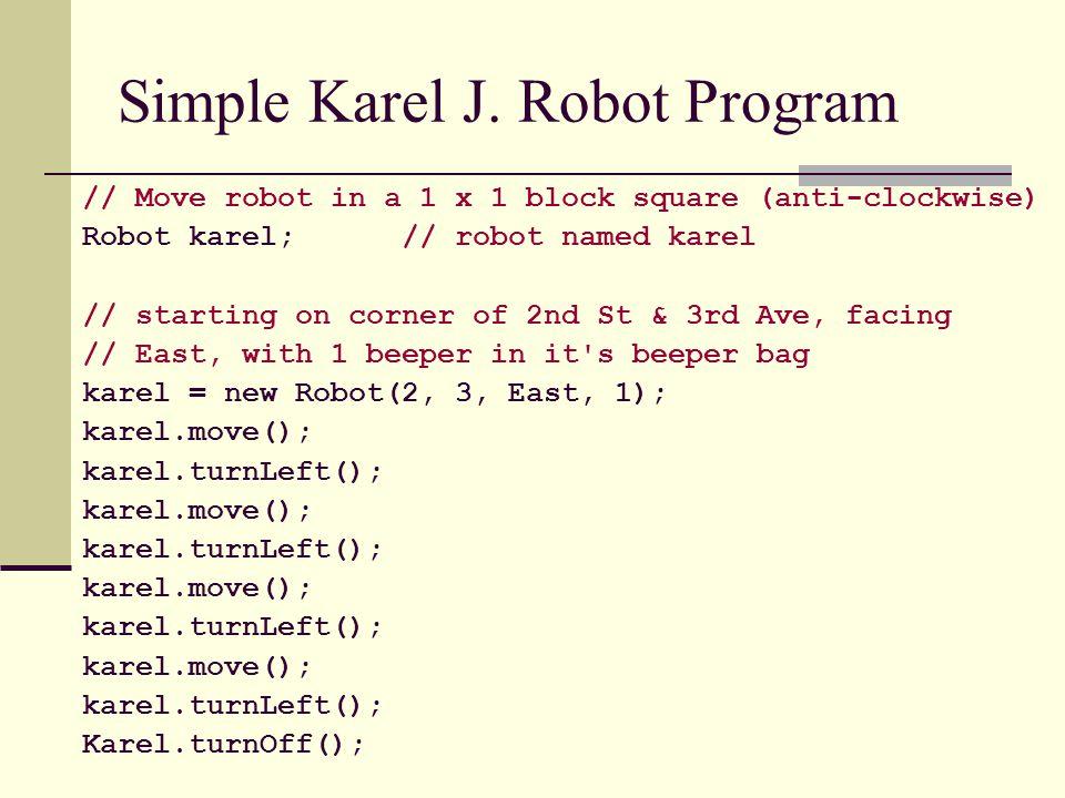 Simple Karel J. Robot Program