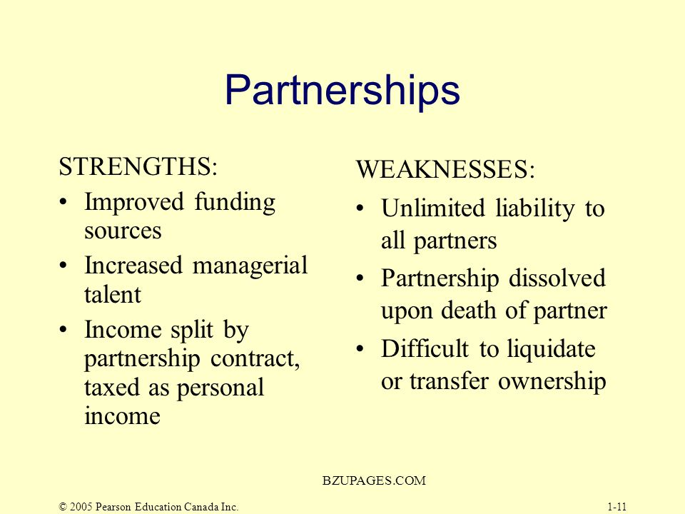 Partnerships STRENGTHS: Improved funding sources