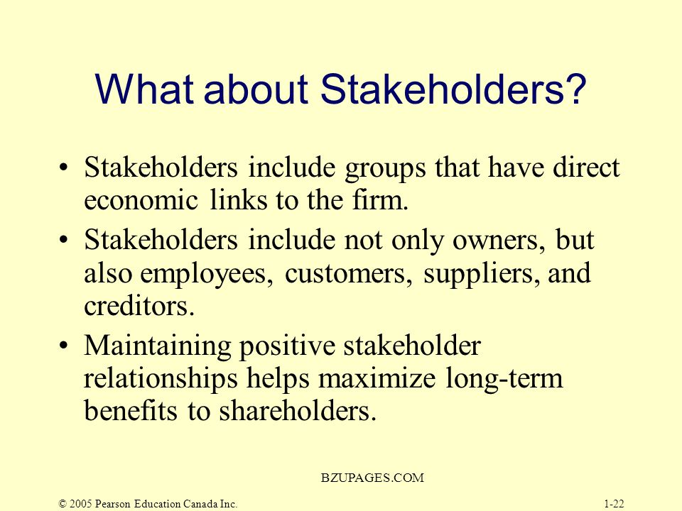 What about Stakeholders