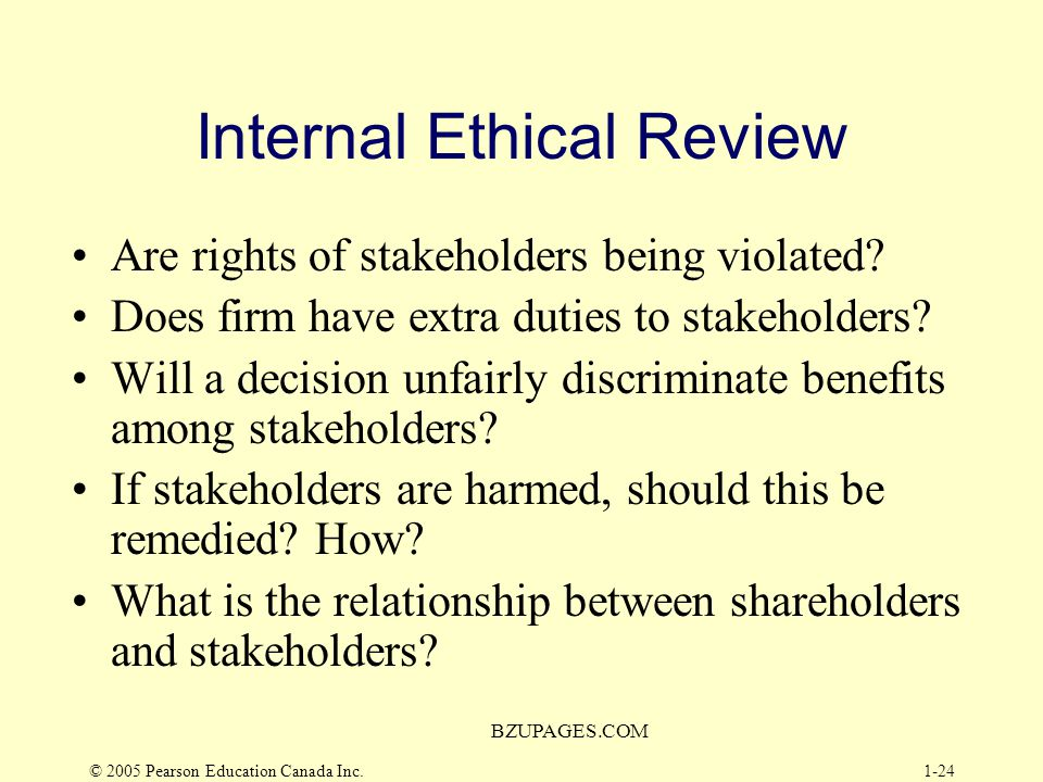 Internal Ethical Review