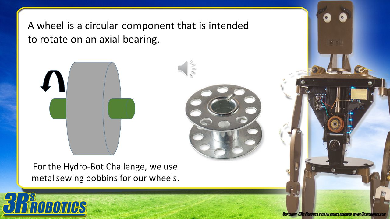 A wheel is a circular component that is intended to rotate on an axial bearing.