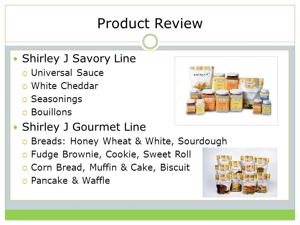 Product Review Shirley J Savory Line Shirley J Gourmet Line