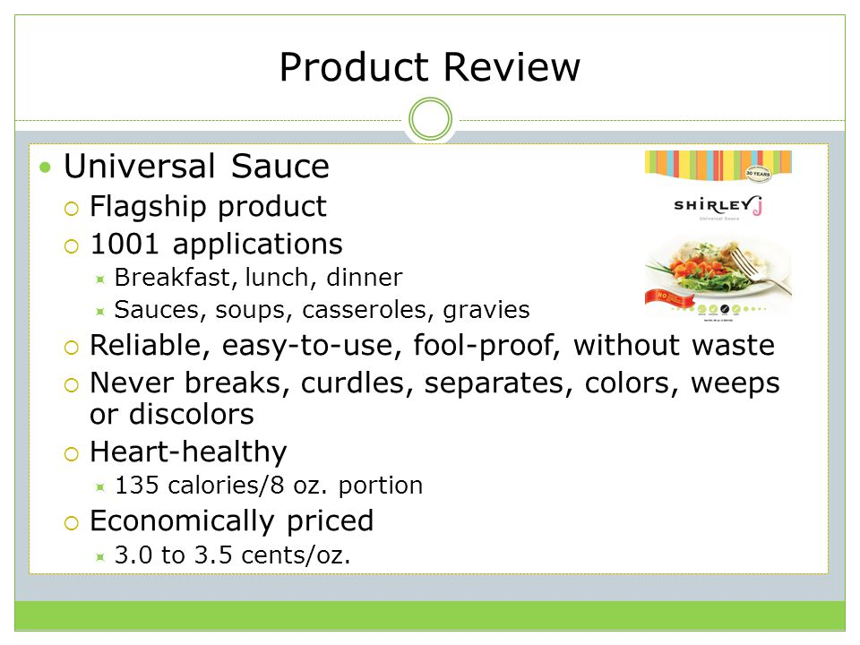 Product Review Universal Sauce Flagship product 1001 applications