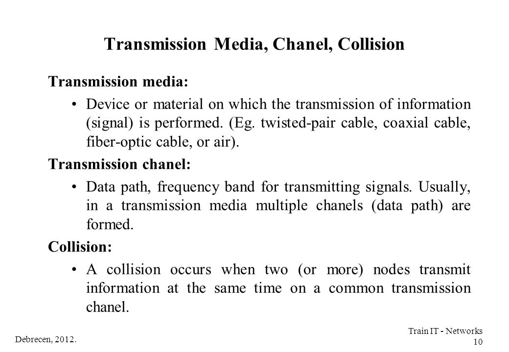 Transmission Media, Chanel, Collision