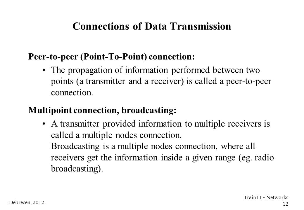 Connections of Data Transmission