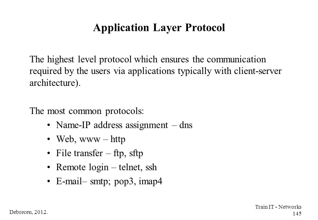 Application Layer Protocol