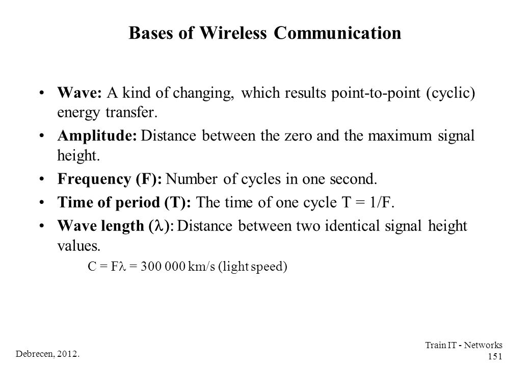 Bases of Wireless Communication