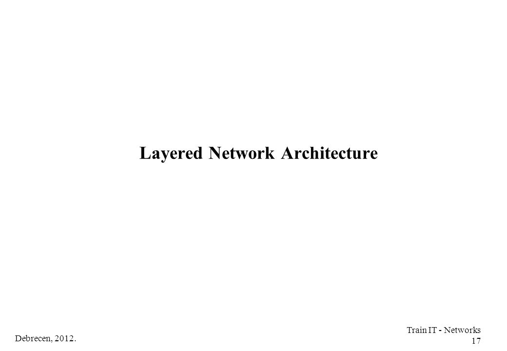 Layered Network Architecture