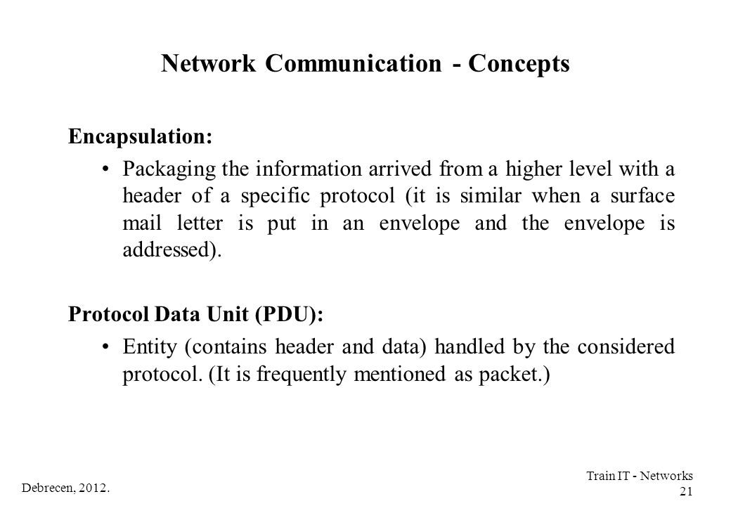 Network Communication - Concepts