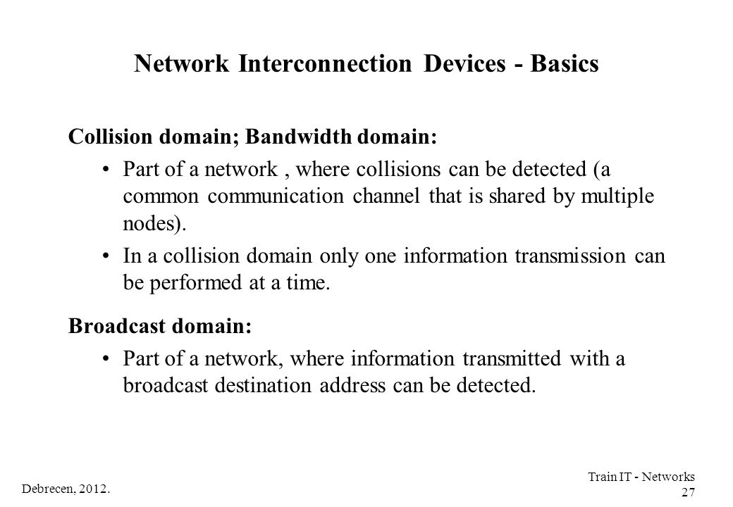 Network Interconnection Devices - Basics