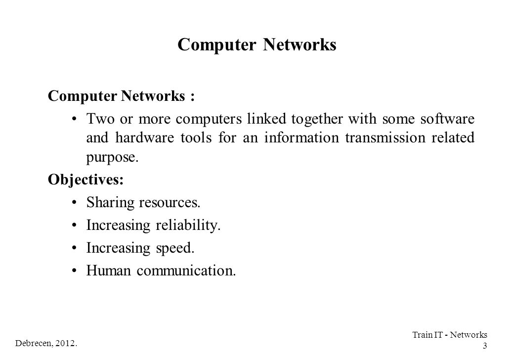 Computer Networks Computer Networks :