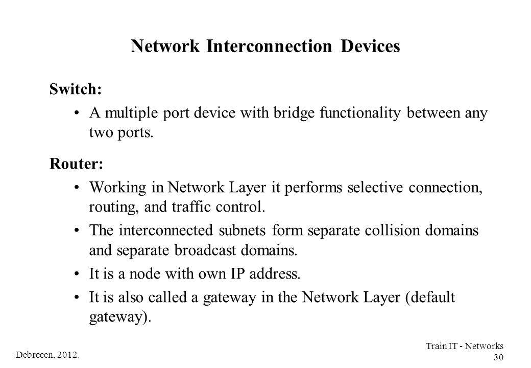 Network Interconnection Devices