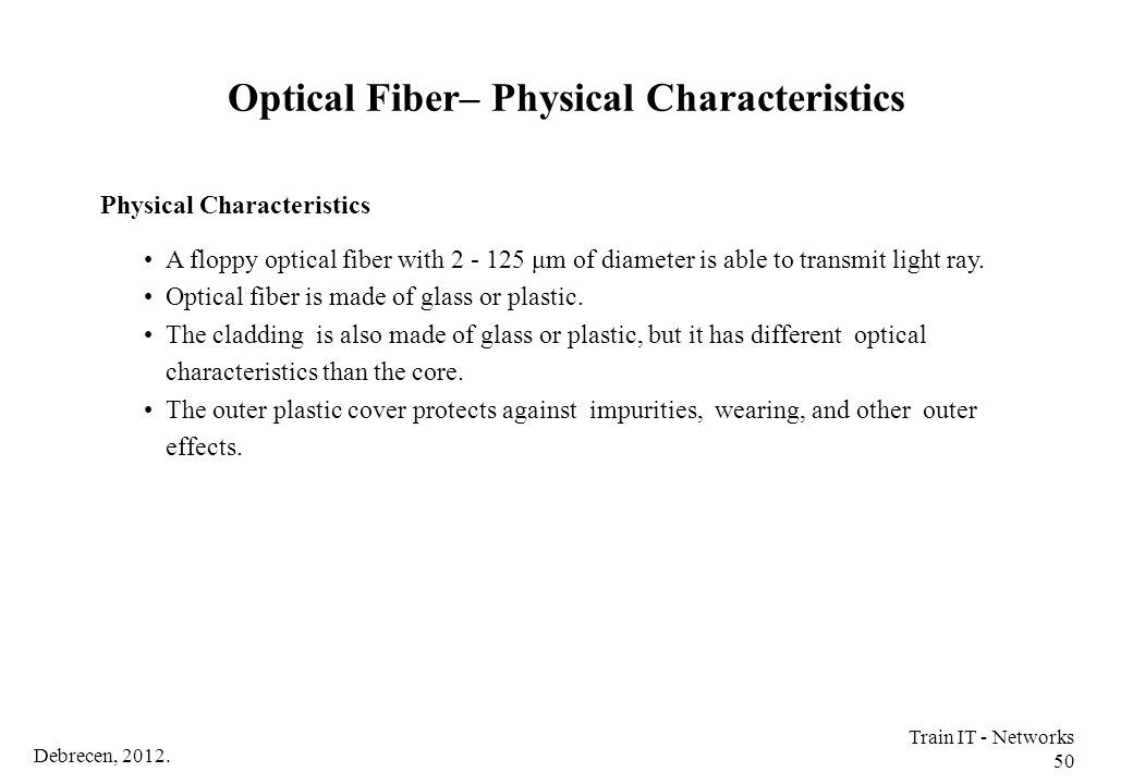 Optical Fiber– Physical Characteristics