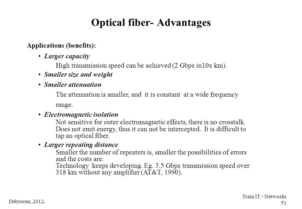 Optical fiber- Advantages