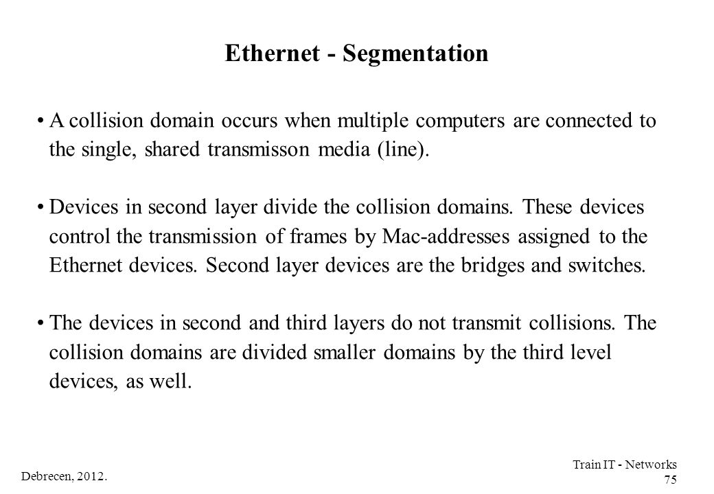 Ethernet - Segmentation