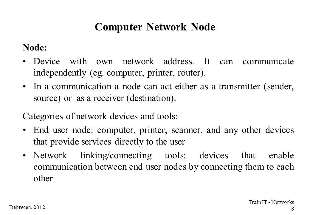 Computer Network Node Node: