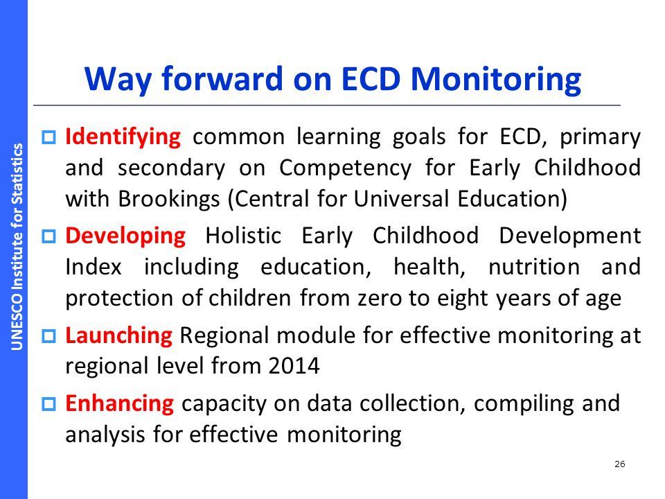 Way forward on ECD Monitoring