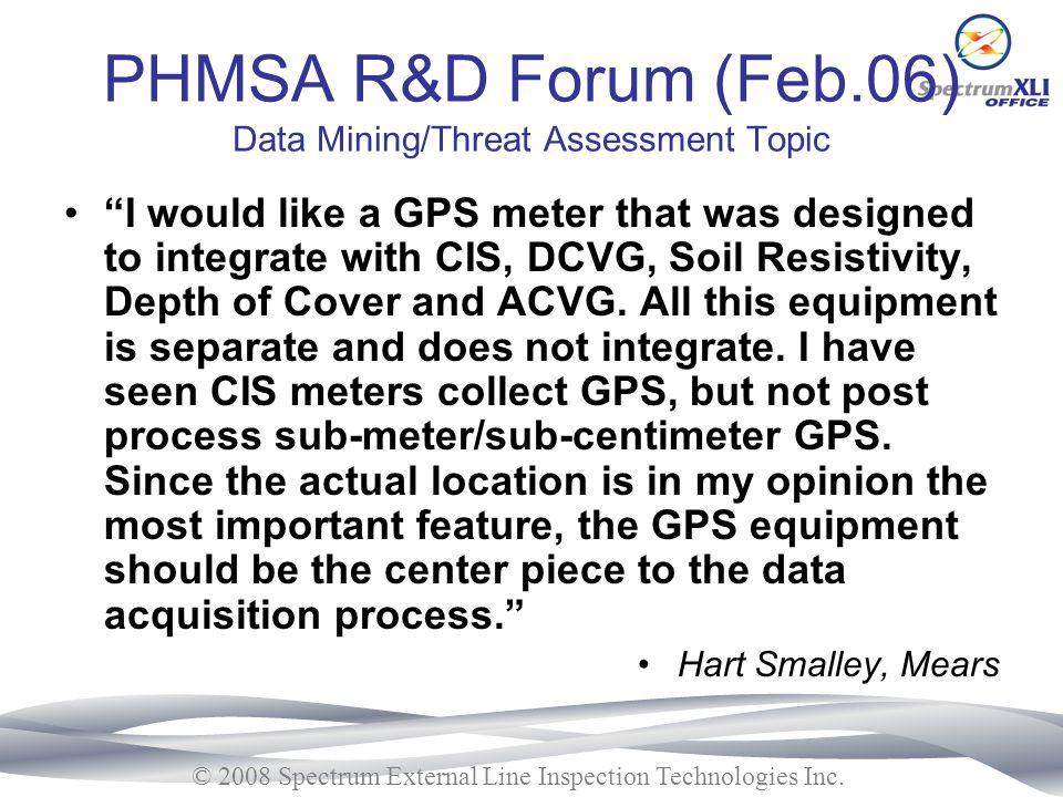 PHMSA R&D Forum (Feb.06) Data Mining/Threat Assessment Topic