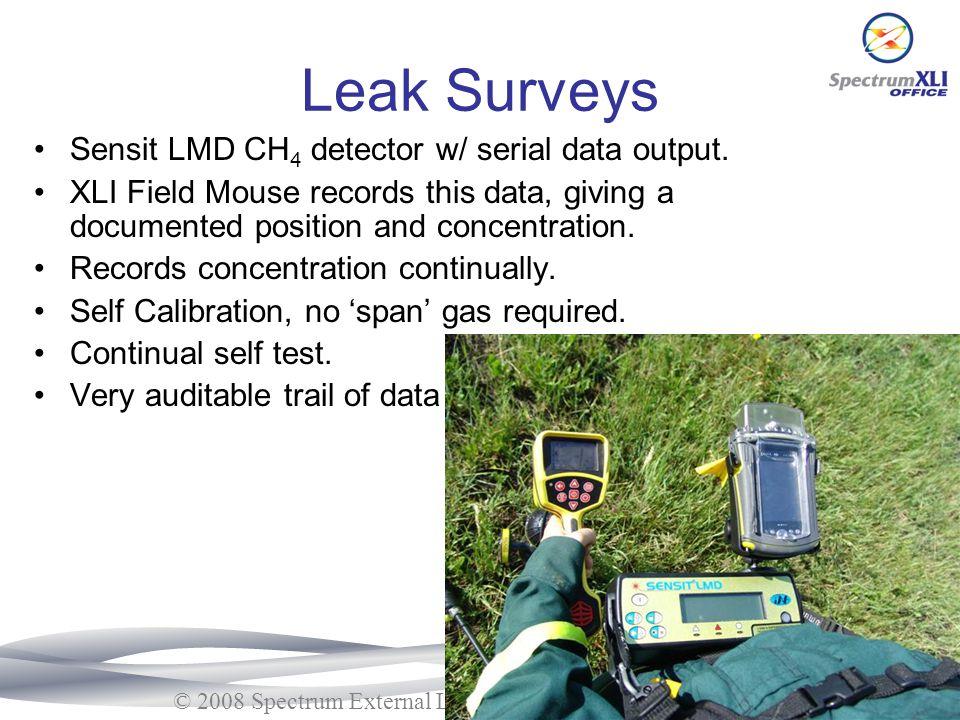 Leak Surveys Sensit LMD CH4 detector w/ serial data output.
