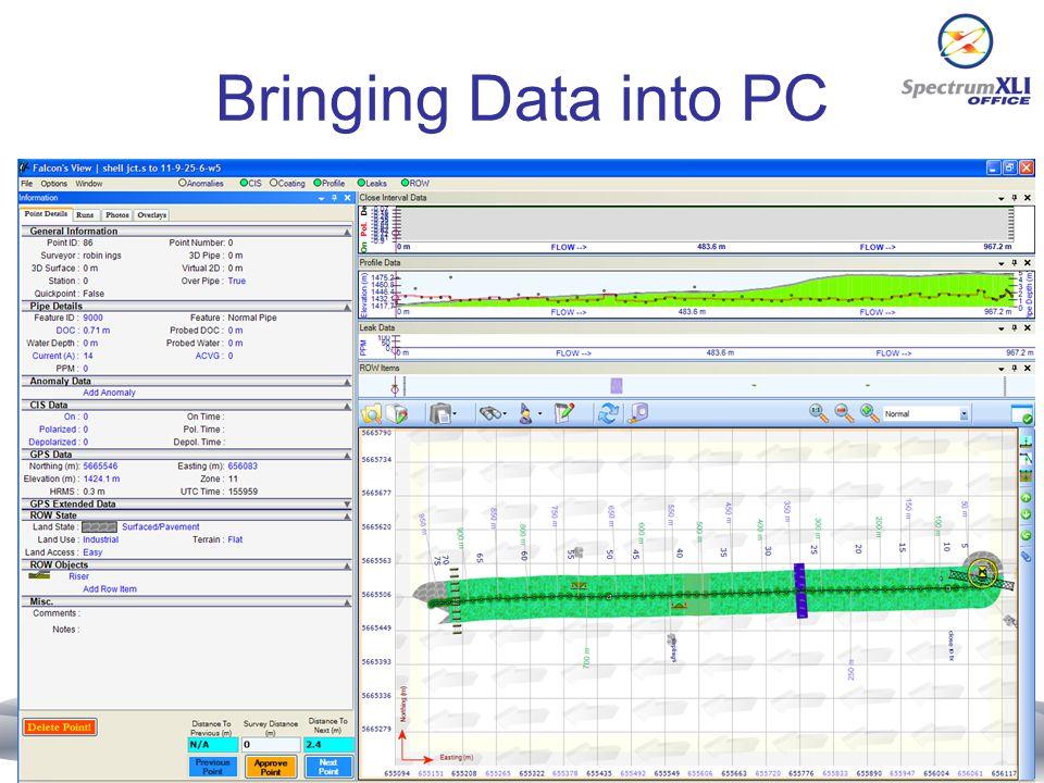 Bringing Data into PC