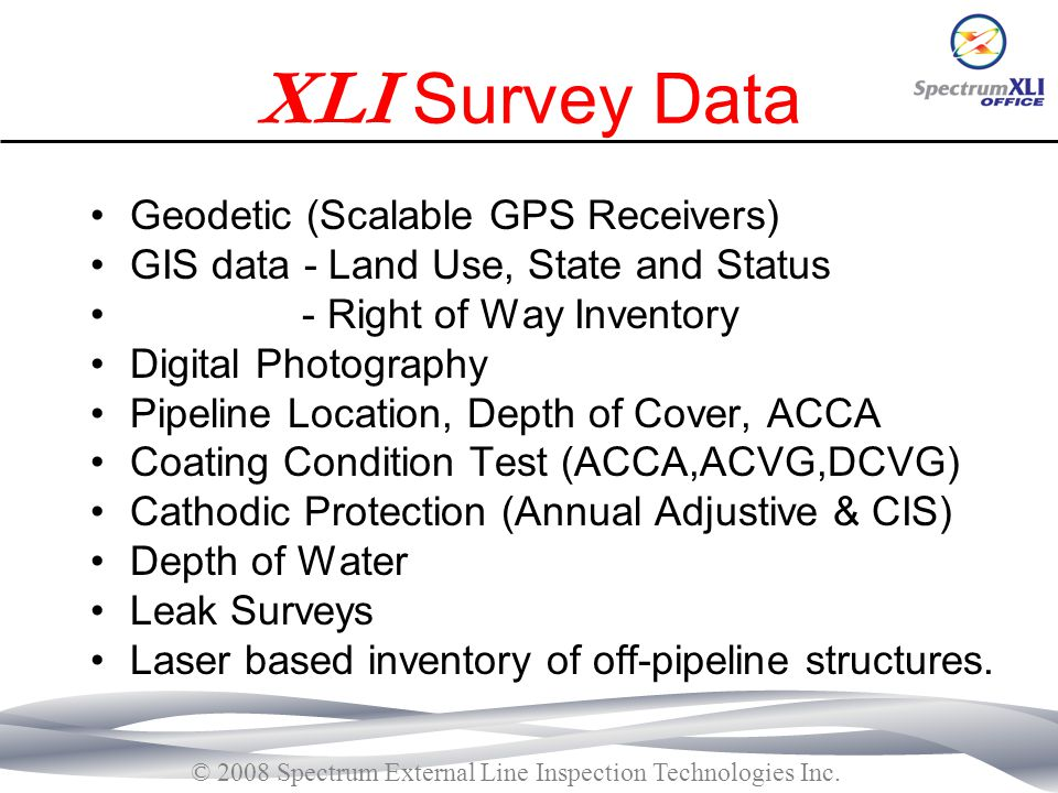 XLI Survey Data Geodetic (Scalable GPS Receivers)