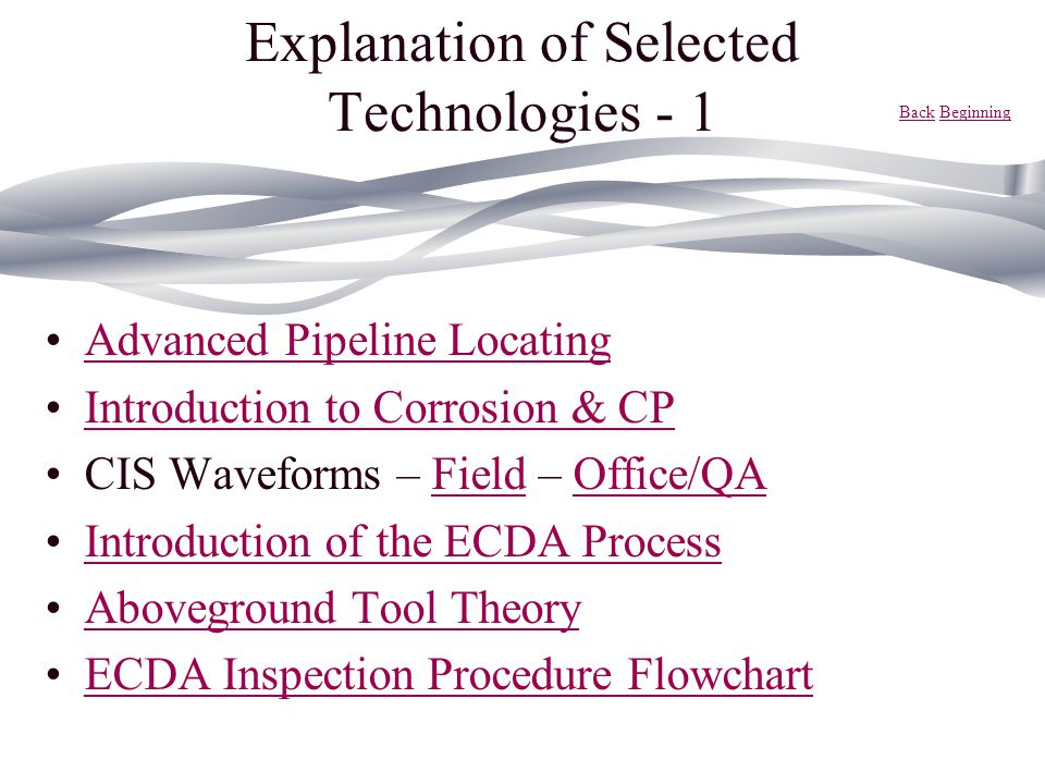 Explanation of Selected Technologies - 1