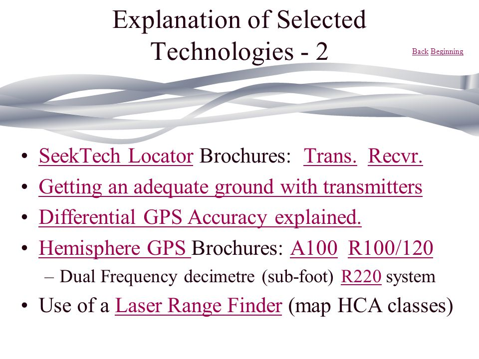 Explanation of Selected Technologies - 2