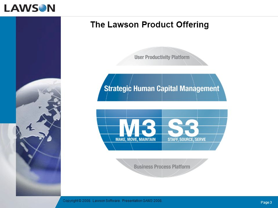 The Lawson Product Offering