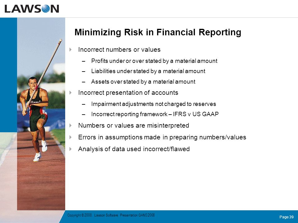 Minimizing Risk in Financial Reporting