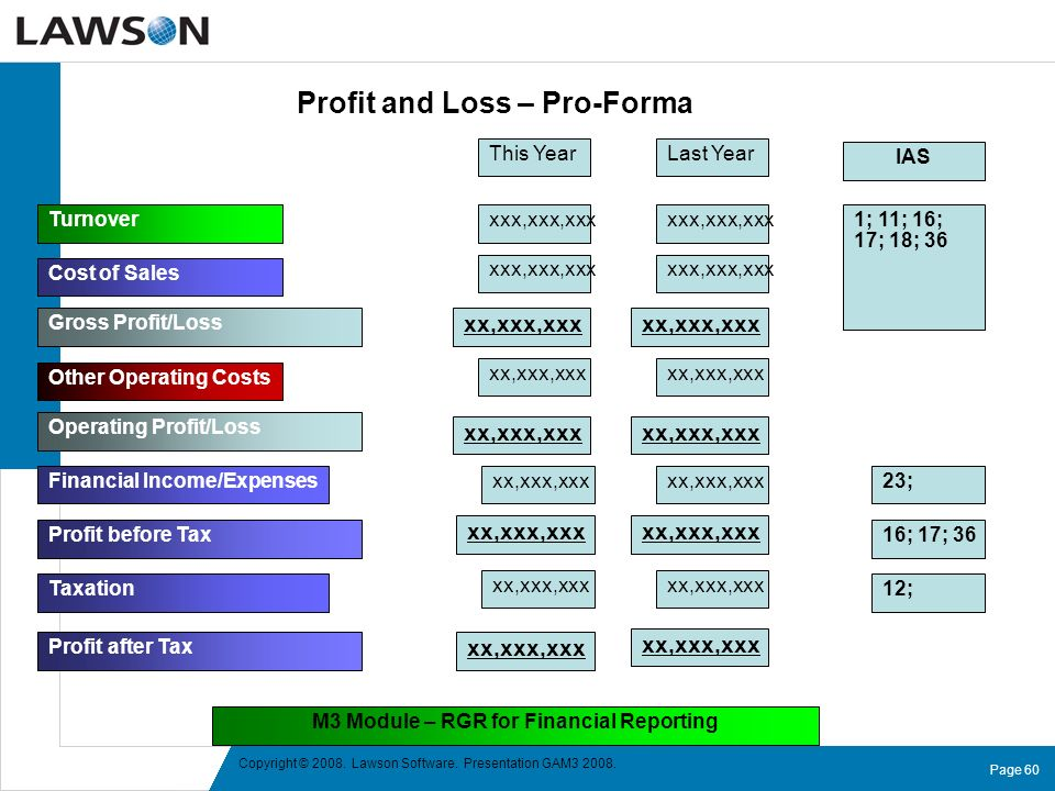 Profit and Loss – Pro-Forma