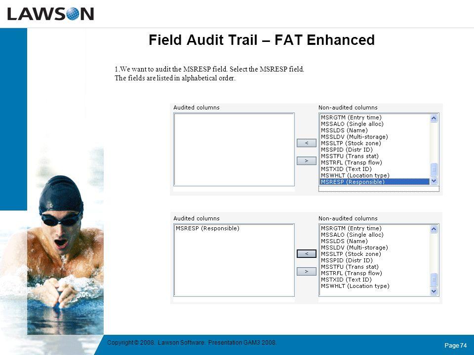 Field Audit Trail – FAT Enhanced