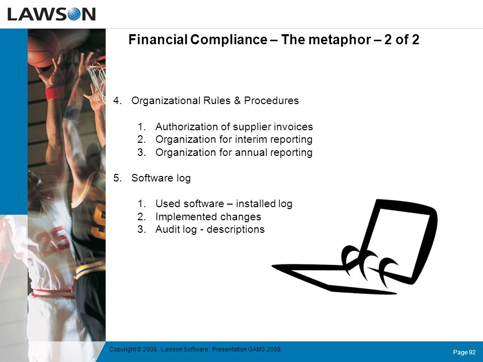 Financial Compliance – The metaphor – 2 of 2