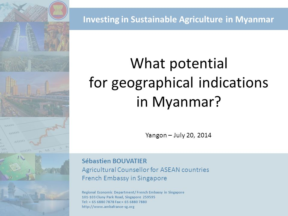 What potential for geographical indications in Myanmar