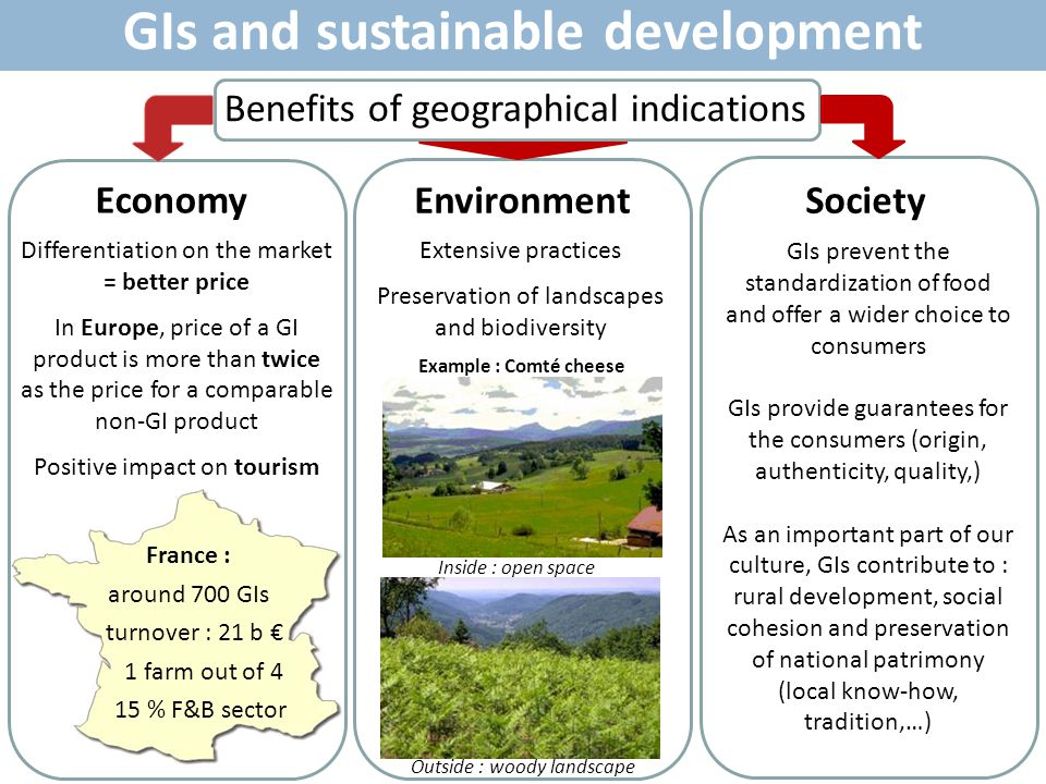 GIs and sustainable development