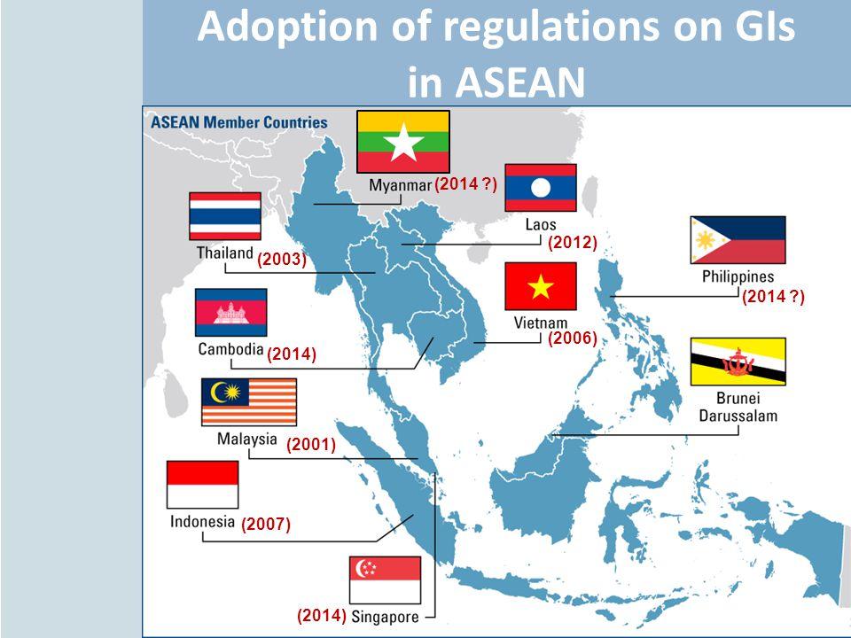 Adoption of regulations on GIs