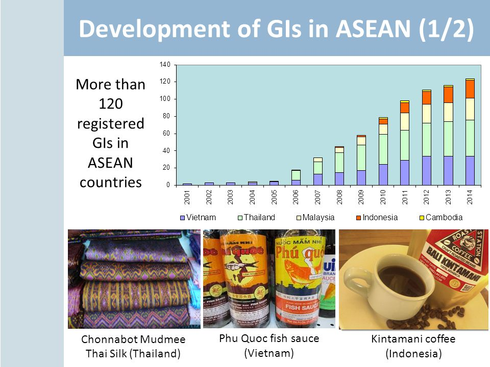 Development of GIs in ASEAN (1/2)