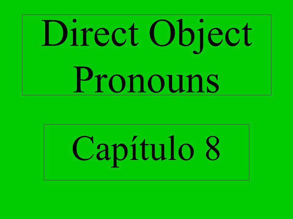 Direct Object Pronouns
