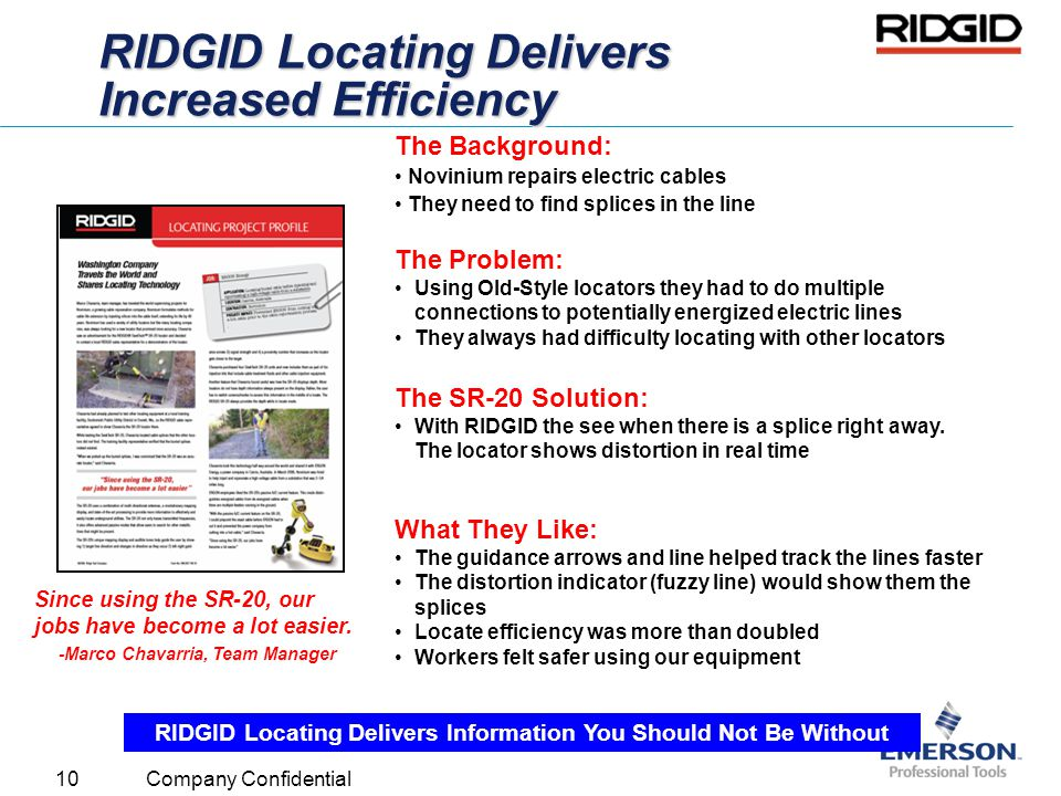 RIDGID Locating Delivers Increased Efficiency