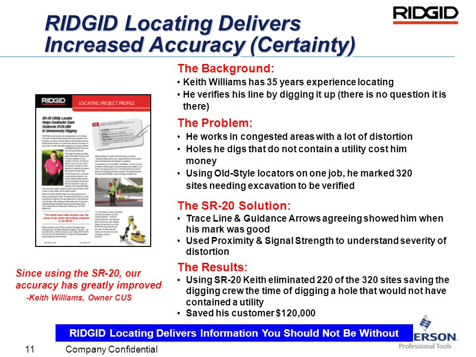 RIDGID Locating Delivers Increased Accuracy (Certainty)