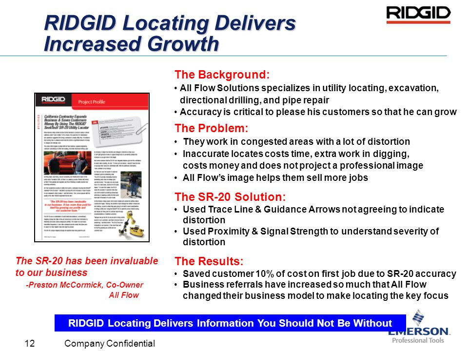 RIDGID Locating Delivers Increased Growth
