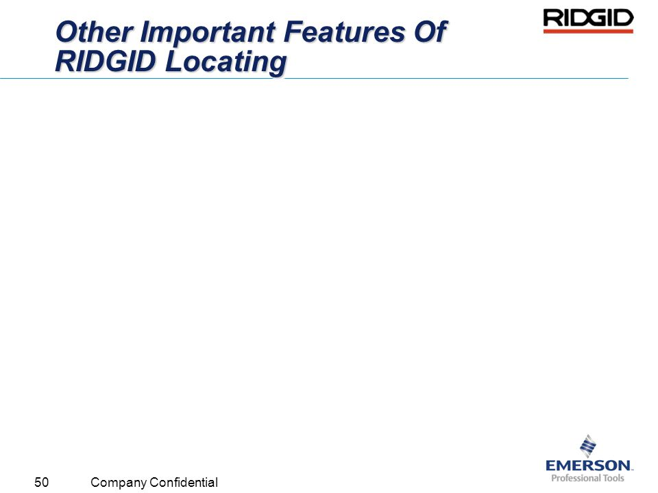 Other Important Features Of RIDGID Locating