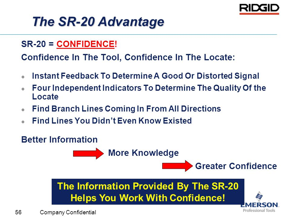 The Information Provided By The SR-20 Helps You Work With Confidence!
