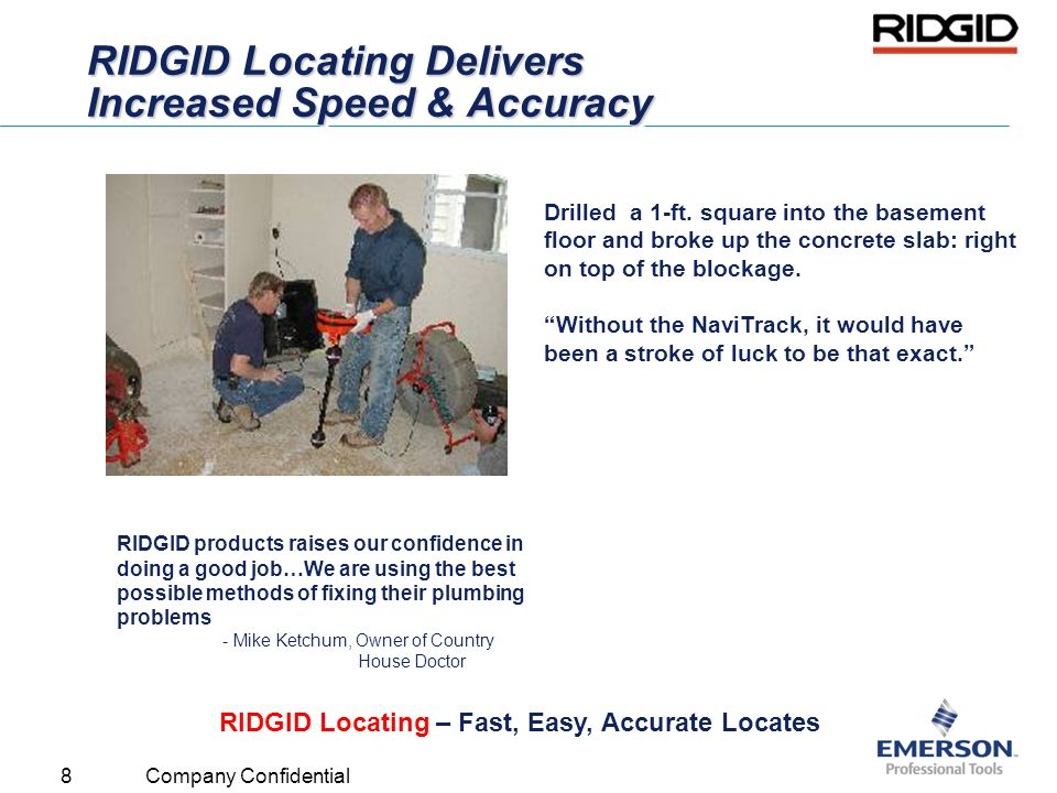 RIDGID Locating Delivers Increased Speed & Accuracy
