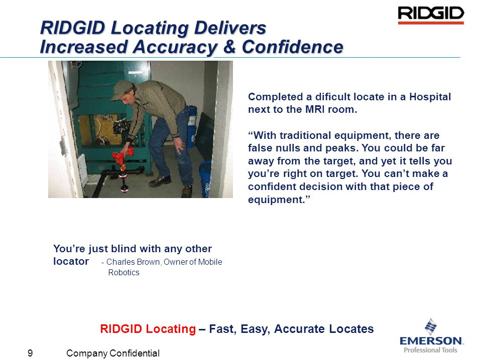 RIDGID Locating Delivers Increased Accuracy & Confidence