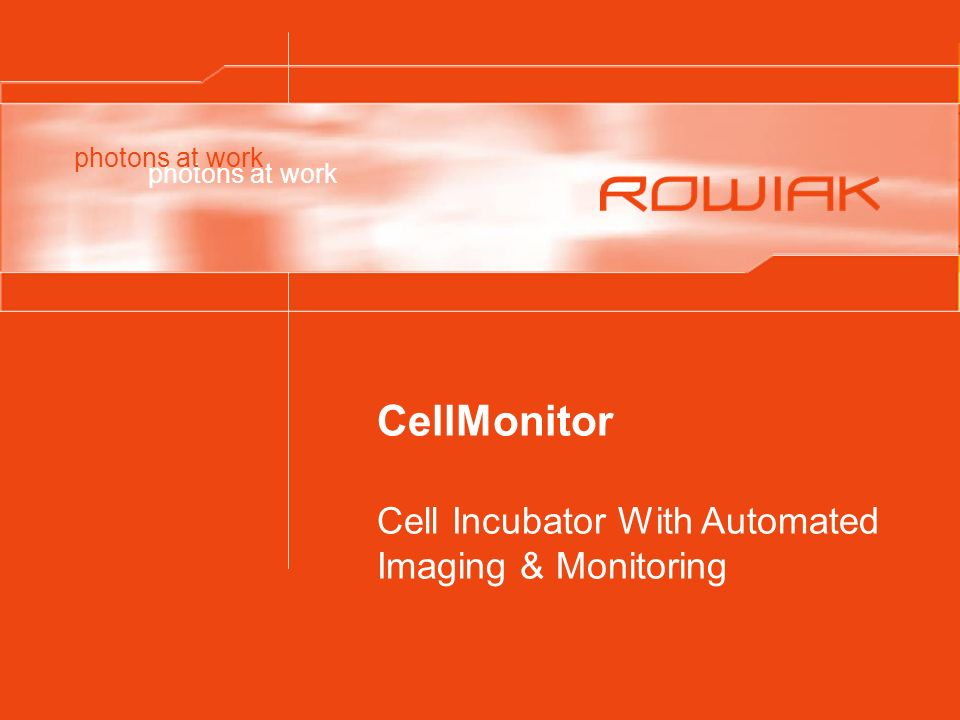 CellMonitor Cell Incubator With Automated Imaging & Monitoring