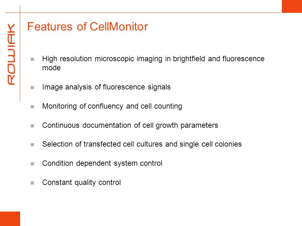 Features of CellMonitor