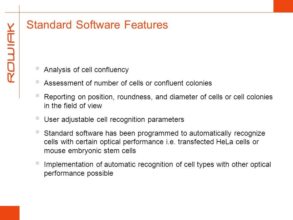 Standard Software Features