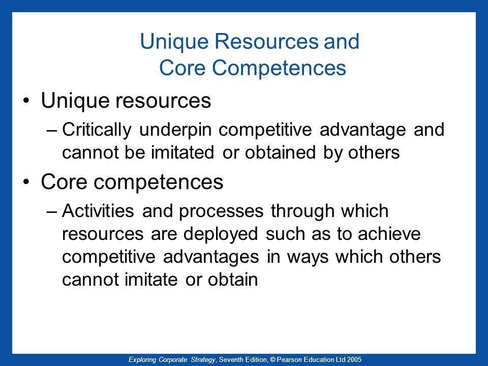 Unique Resources and Core Competences